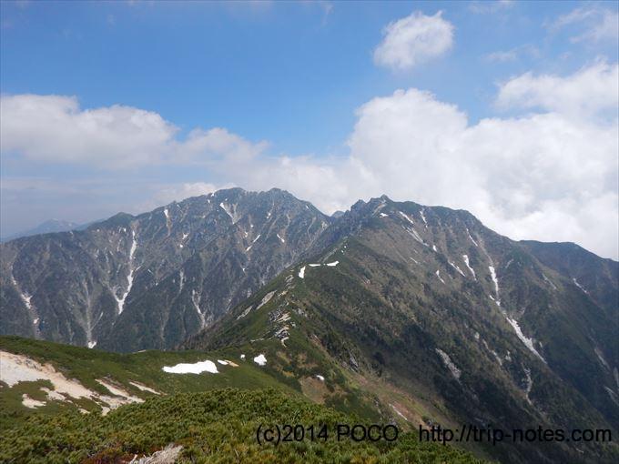 中央アルプスの稜線