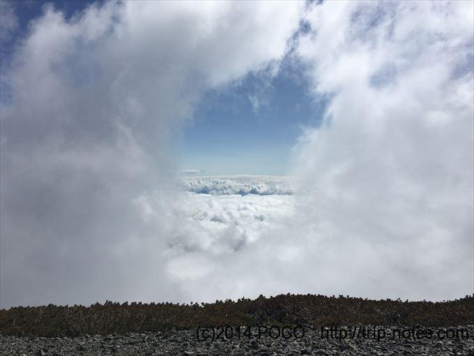 蝶ヶ岳 雲のフレーム
