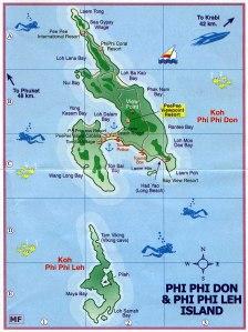Карта острова Пхи Пхи