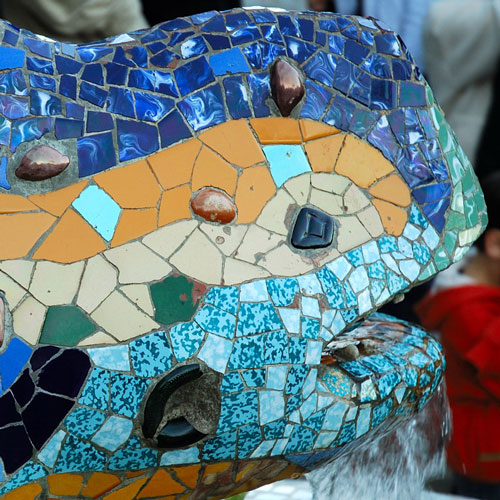 Park Guell by Antoni Gaud  Barcelona