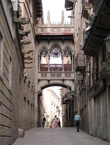 The Gothic district  Barcelona
