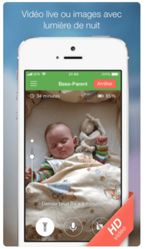 application voyage babyphone
