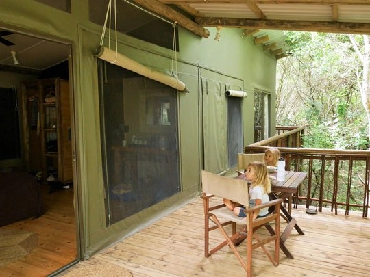 rocktail camp - luxury tent