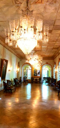 Ballroom in wealthy Goan home
