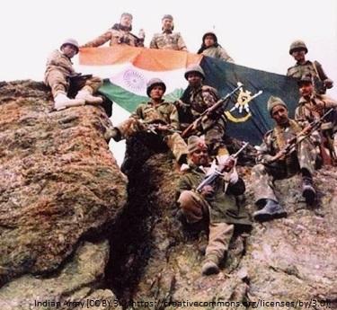 Kargil war indian flag