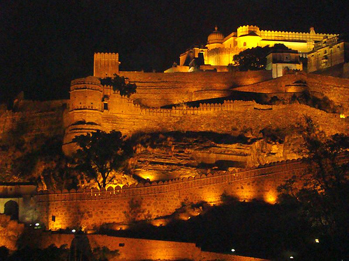 Kumbhalgarh fort with lighting