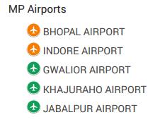 madhya pradesh airports