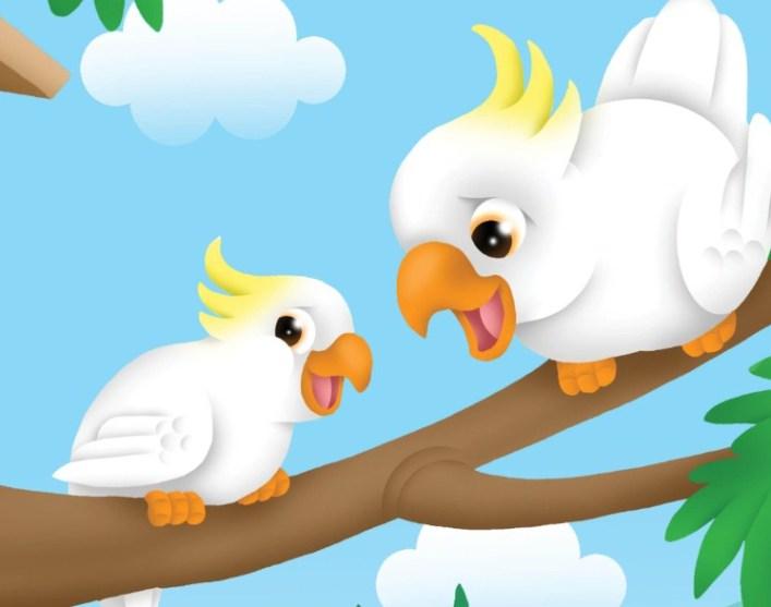 Menurutmu, mengapa Kakatua tidak marah walaupun kepalanya sakit terkena pukulan Burung Nuri?