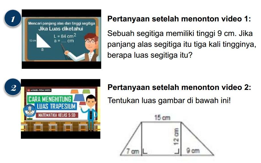 Sebuah segitiga memiliki tinggi 9 cm. Jika panjang alas segitiga itu tiga kali tingginya, berapa luas segitiga itu?