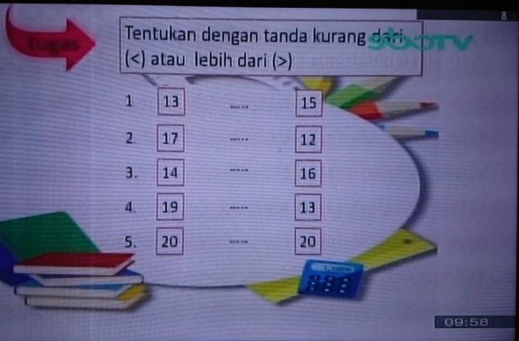 Soal dan Jawaban SBO TV 22 September SD Kelas 1