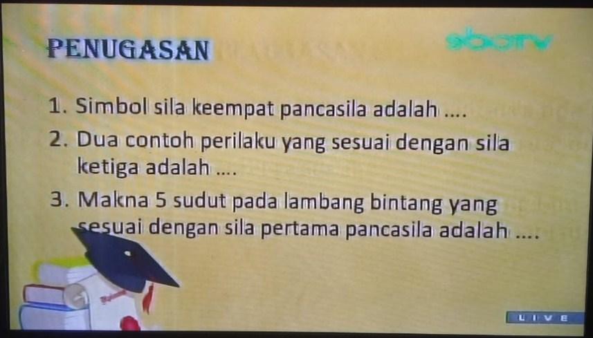 Soal dan Jawaban SBO TV 8 September 2020