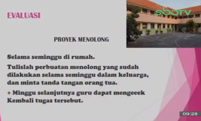 Soal dan Jawaban SBO TV 24 September SD Kelas 2