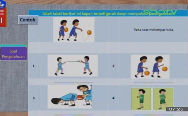 Soal dan Jawaban SBO TV 25 September SD Kelas 3