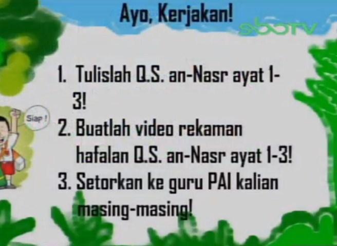 Soal dan Jawaban SBO TV 8 September SD Kelas 3