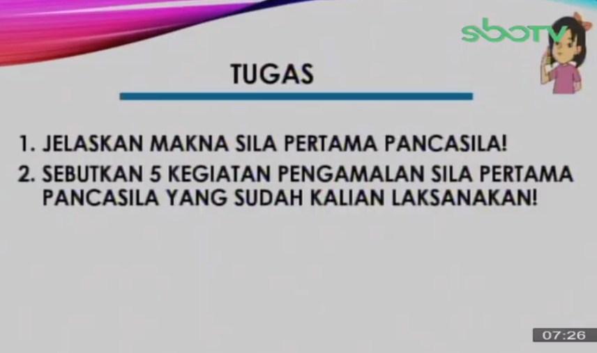Soal dan Jawaban SBO TV 30 September SD Kelas 4