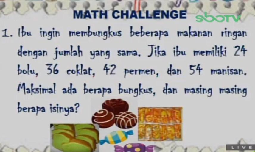 Soal dan Jawaban SBO TV 8 September SD Kelas 4