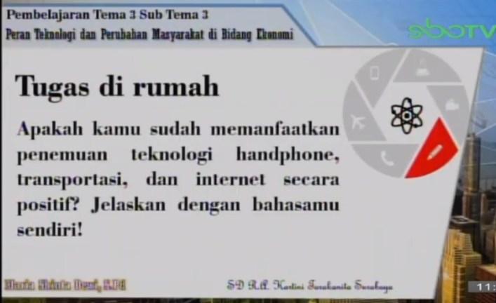 Soal dan Jawaban SBO TV 24 September SD Kelas 6