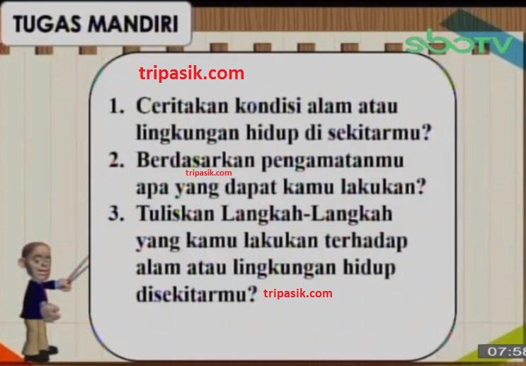 Soal dan Jawaban SBO TV 15 Oktober SD Kelas 3