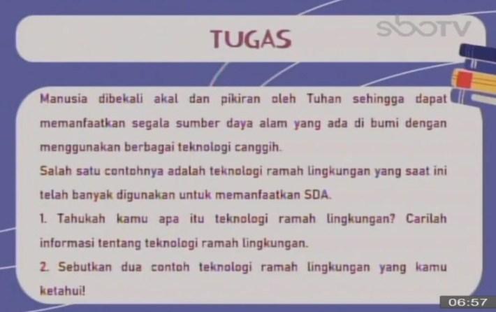 Soal dan Jawaban SBO TV 2 Oktober SD Kelas 4