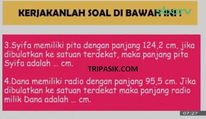 Soal dan Jawaban SBO TV 8 Oktober SD Kelas 4