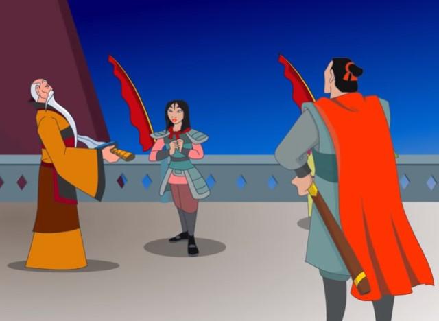 Tuliskan hal apa saja yang patut ditiru dari Mulan! Tuliskan minimal tiga hal
