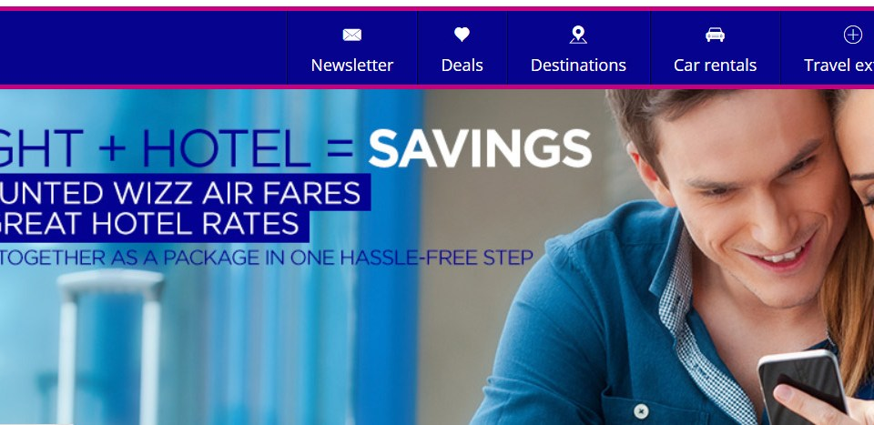 Акция WIZZTOURS: Промокод на скидку 50 евро на перелёт+отель в феврале-марте!