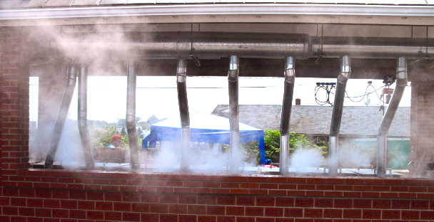 Lobsters by the thousands are summarily steamed before being offered to the masses at Rockland, ME's Lobster Festival.