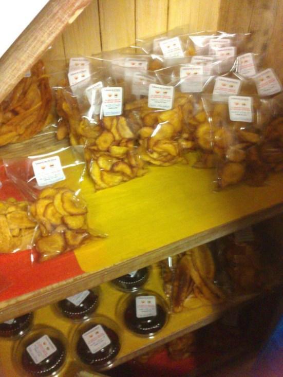 Chips de mandioca colombiana