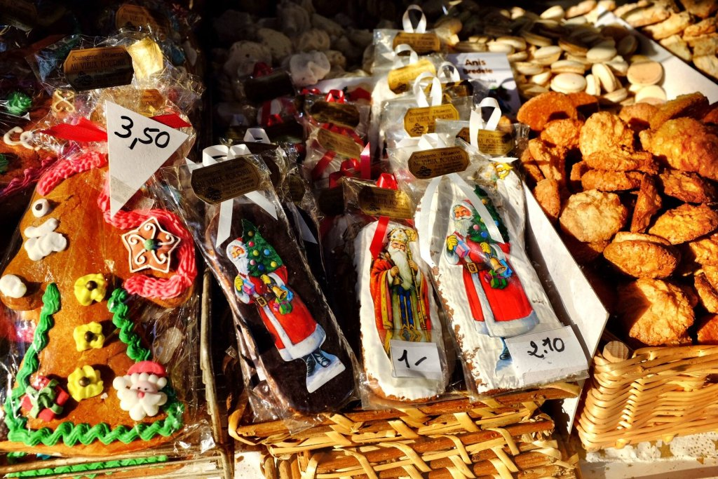 Gingerbread treats for sale at the Strasbourg Christmas market