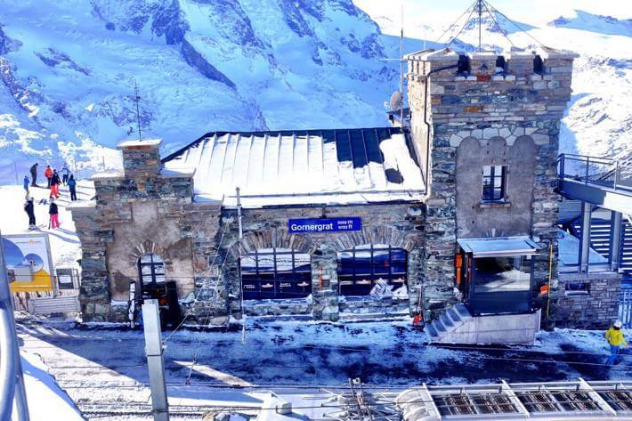Train station Gornergrat Zermatt