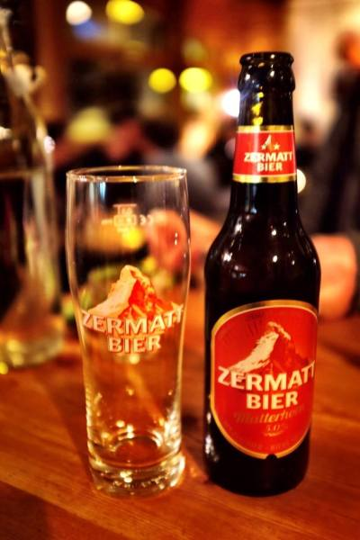 What to do in Zermatt - Zermatt Bier Matterhorn