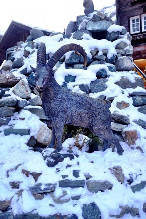 Figurine of an alpine ibex as seen in Zermatt