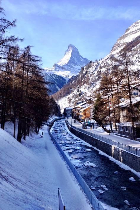 Matter Vispa with Matterhorn in background in Zermatt