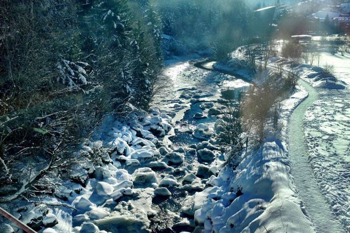 A river we saw on our journey with the Glacier Express