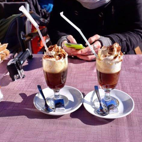 Those two coffees were made of coffee, whiskey and amaretto. They were heavenly good and made us a slight bit tipsy