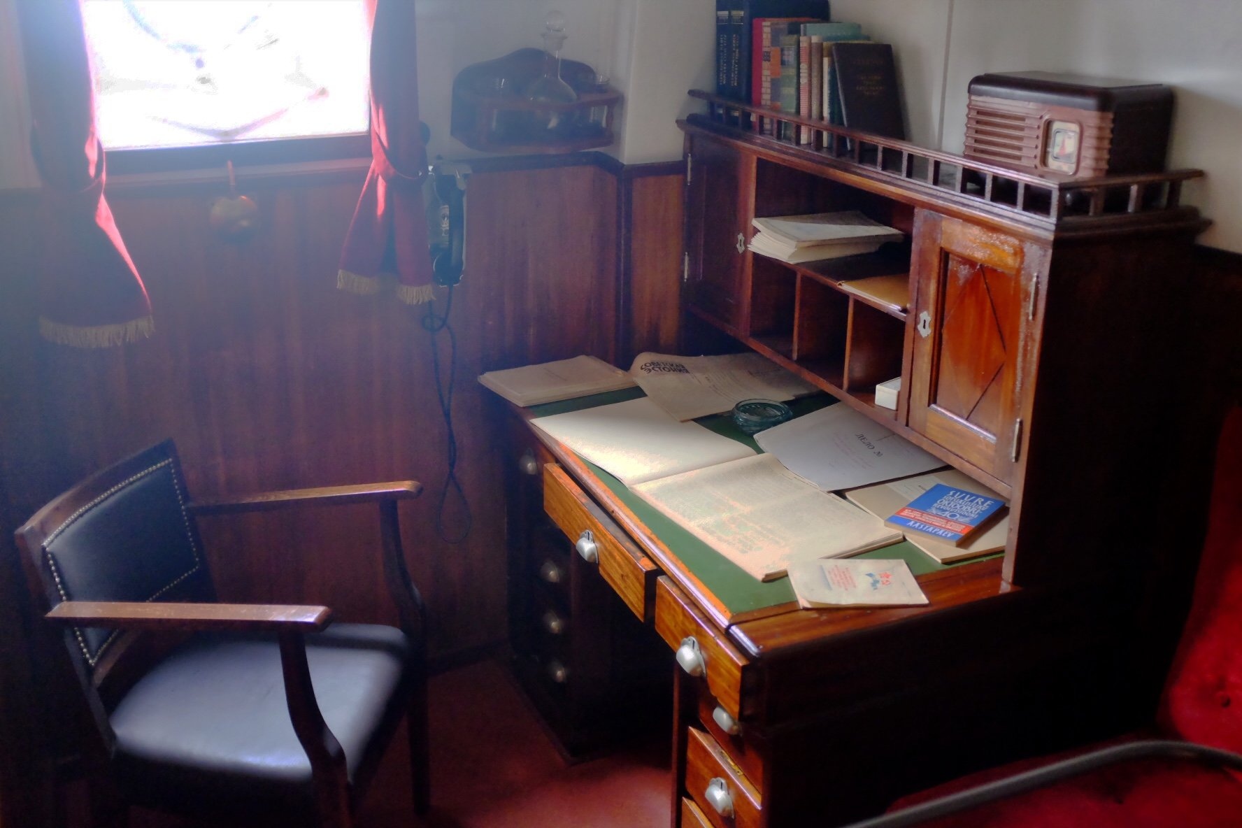 Captains Chamber at the Seaplane Museum in Tallinn