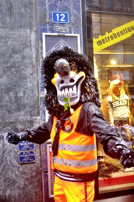 Come at me bro Waggis at the Basler Fasnacht
