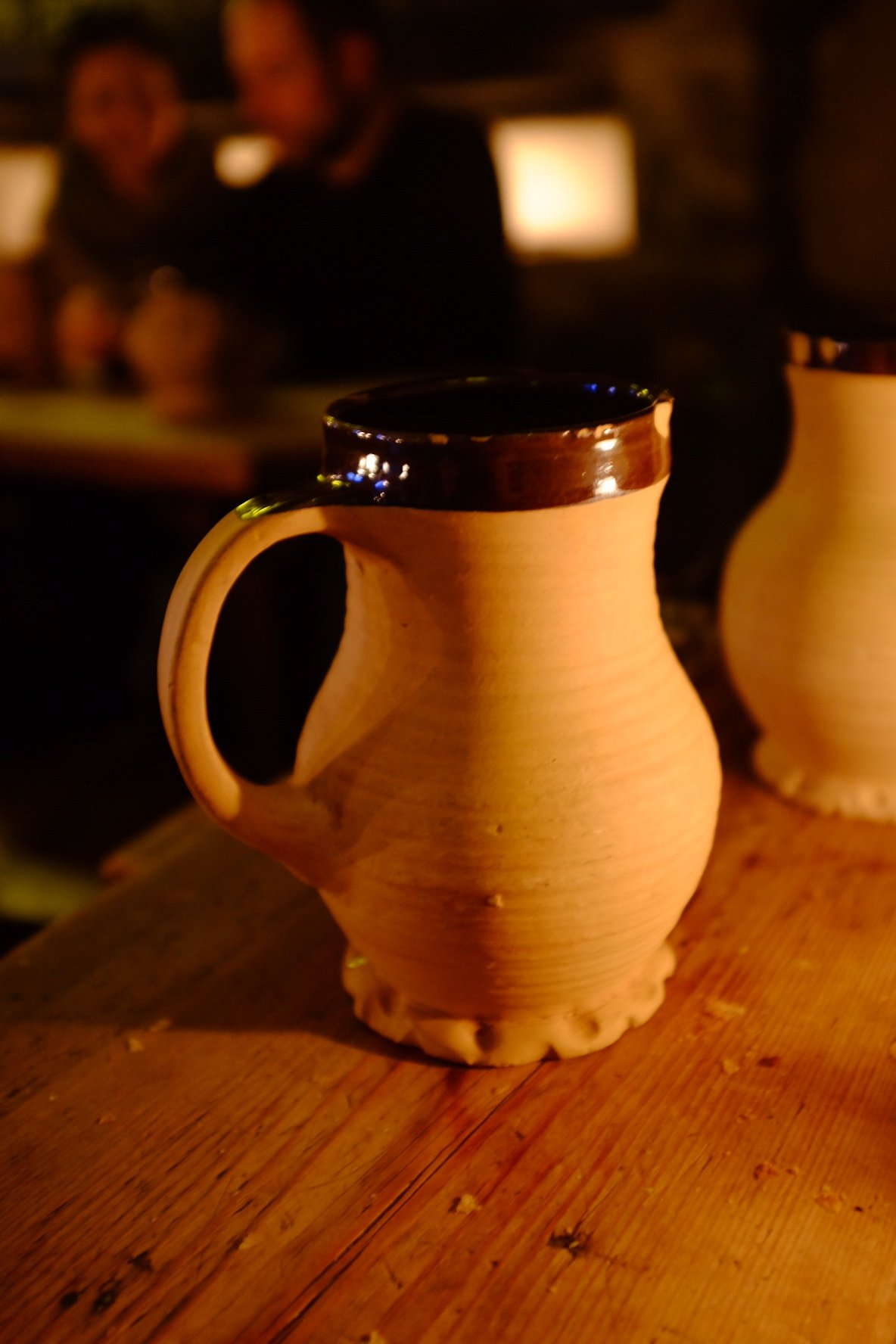 The beer was served in those old school ceramic mugs at the Draakon in Tallinn