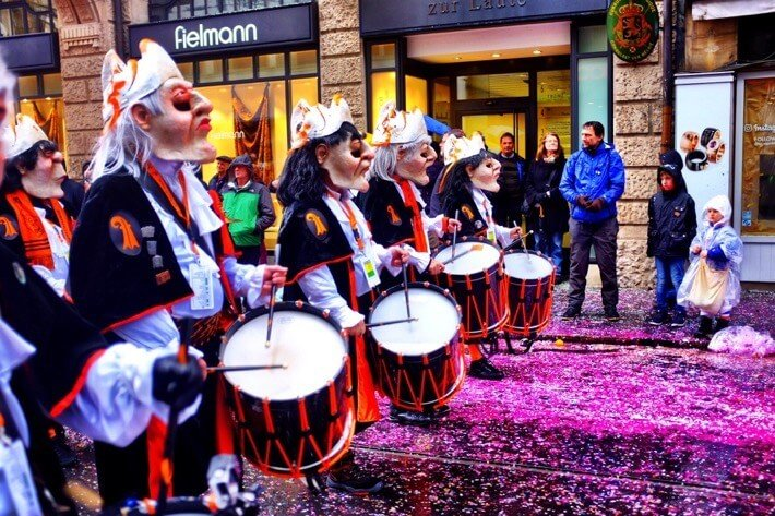 Drummers at the Basler Fasnacht