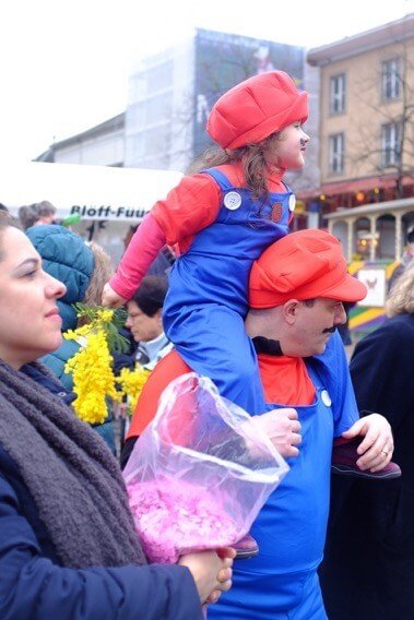 Father and Daughter Mario at the Basler Fasnacht