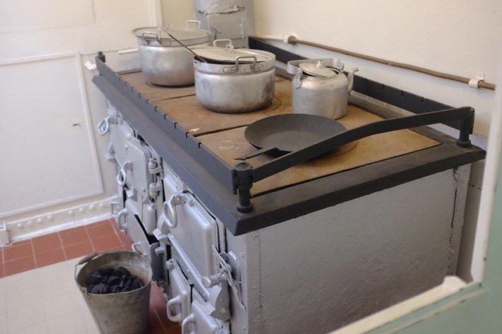 Part of the kitchen of the Icebreaker exhibited at the Seaplane Museum in Tallinn