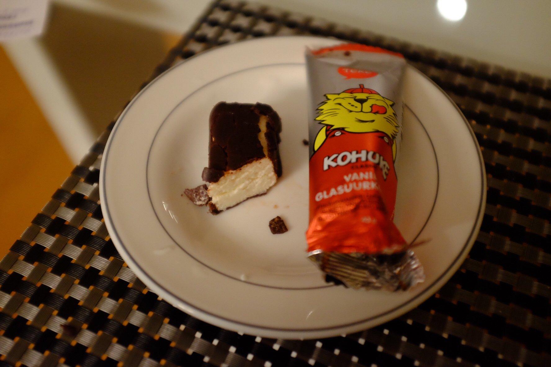 Kohuke is a popular sweet snack in Tallinn and all of Estonia