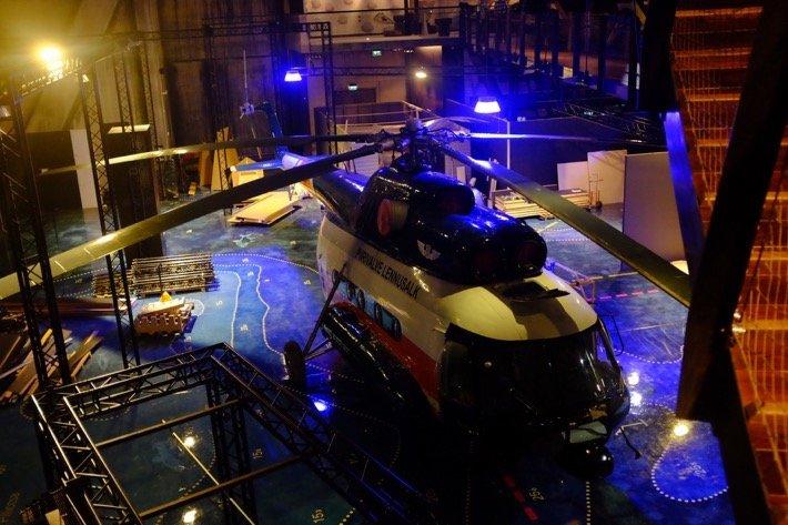 Tallinn city break Rescue Chopper exhibited at the Seaplane Museum in Tallinn