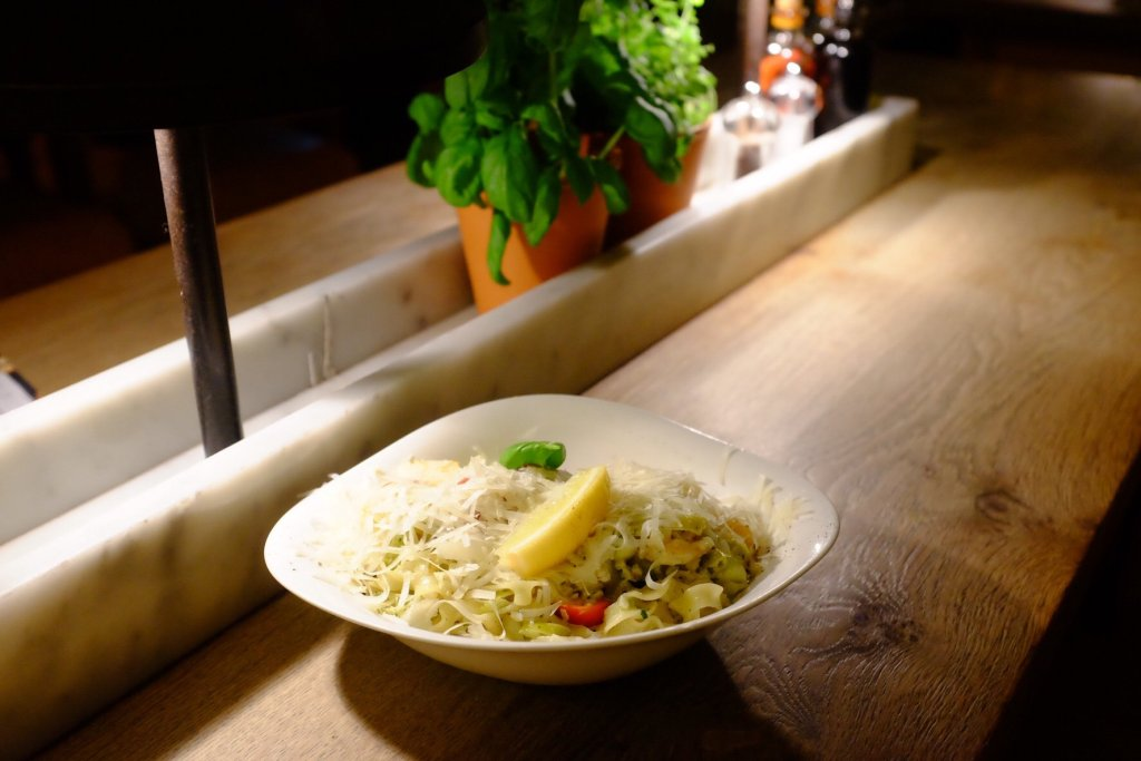 Seafood pasta we had in Vapiano in Tallinn