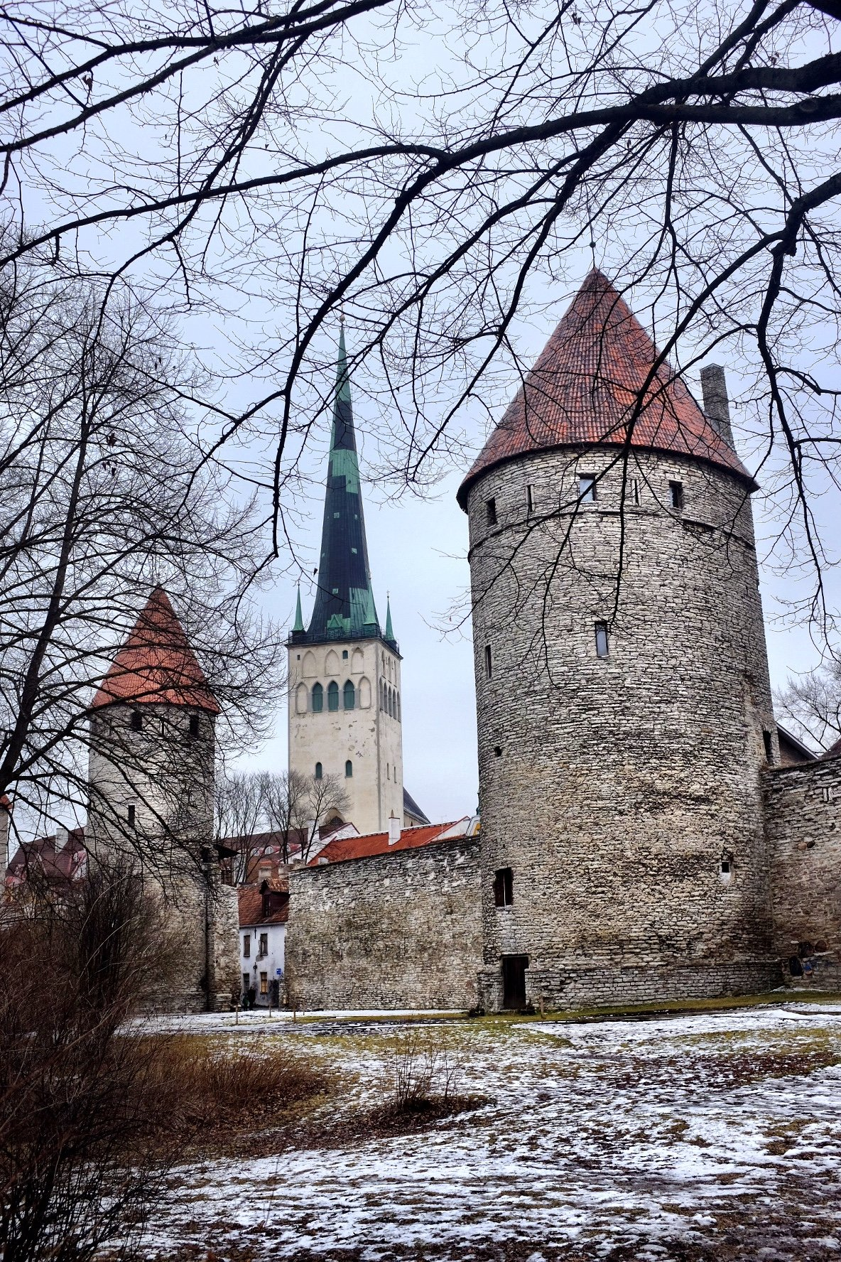 St. Olavs Church and Wall Tower in Tallinn