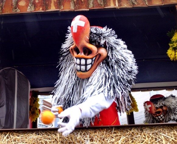 Swiss Waggis at the Basler Fasnacht