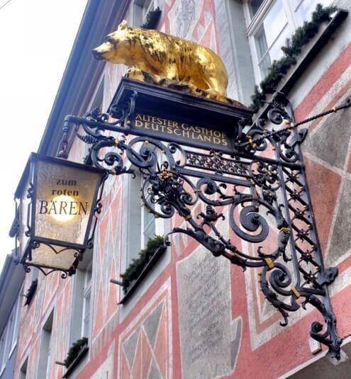Oldest Inn in Germany; zum roten Bären