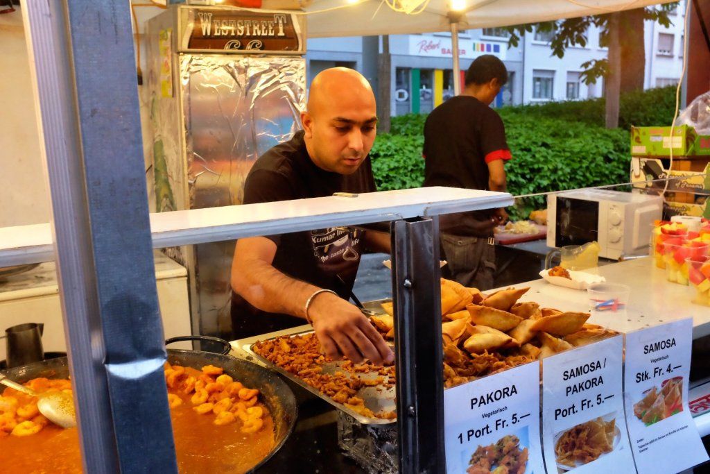 An Indian Seller at the Street Food Festival Basel