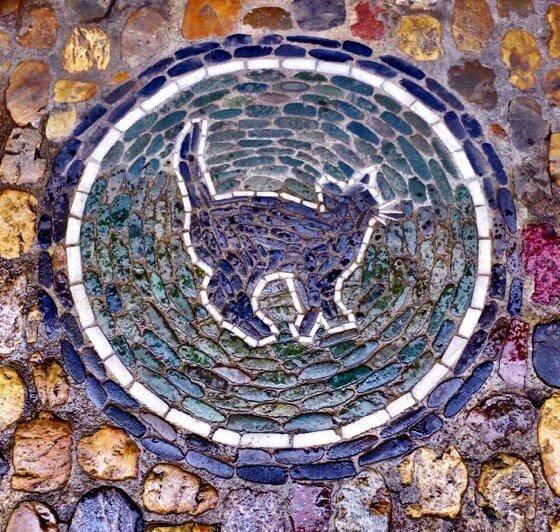 Mosaic Black Cat Freiburg