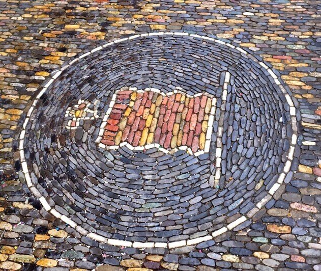 Things to do in Freiburg Germany confectioner mosaic
